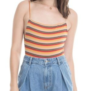 Astr Tops - NWT ASTR The Label Tammie Stripe Bodysuit Large